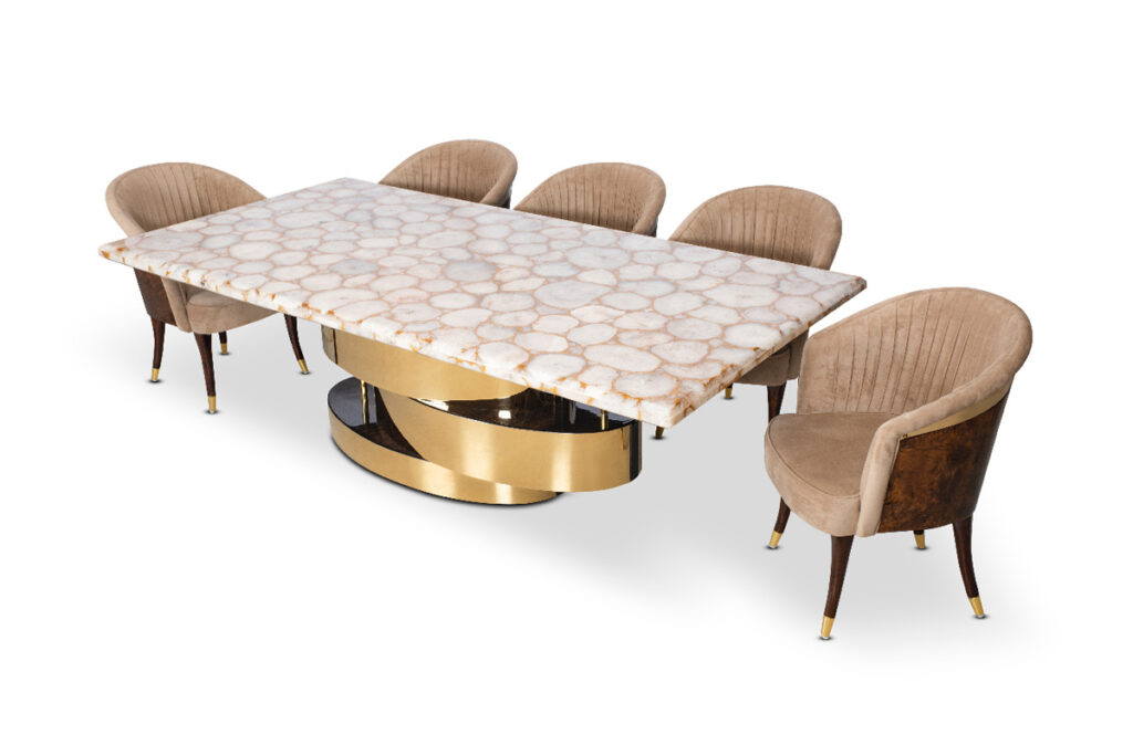snow agates dining table set online
