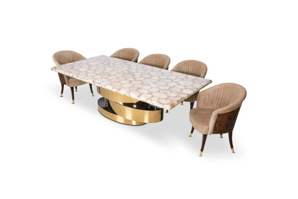 Snow Agates Dining Table For Living Room Furniture From CherryPick India Furniture Store In Bangalore Koramangala