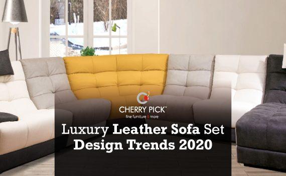 Luxury leather sofa set design trends