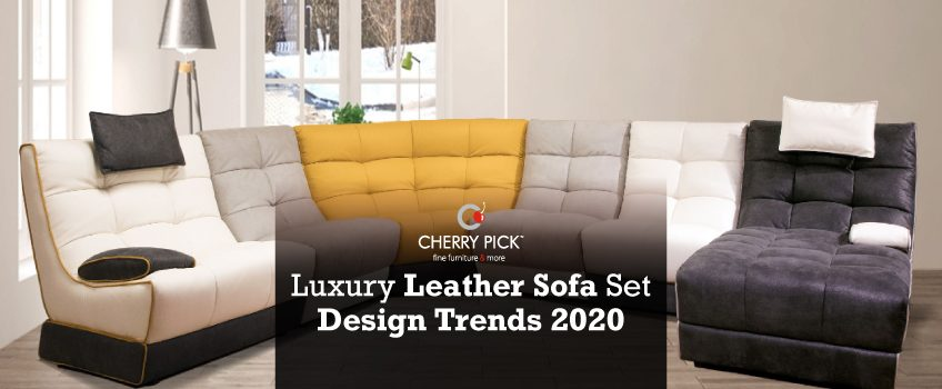Luxury leather sofa set design trends