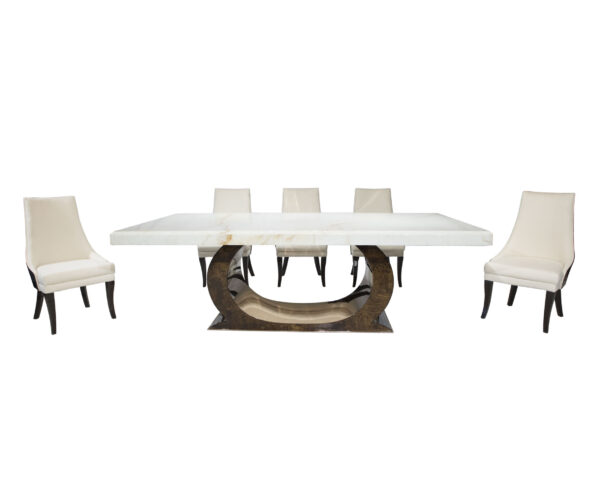 Half Moon Dining Table From CherryPick India Furniture Store In Bangalore Koramangala