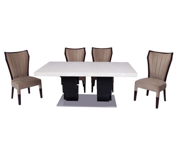 Onyx Zig Zag Dining Table For Dining Room Furniture From CherryPick India Furniture Store In Bangalore Koramangala