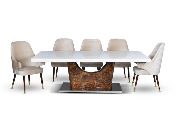 AKD Cross Base Dining TableTop For Dining Room Furniture From CherryPick India Furniture Store In Bangalore Koramangala