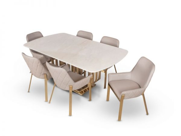 AKD (1+6) Dining Table For Dining Room Furniture From CherryPick India Furniture Store In Bangalore Koramangala