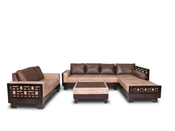Model Delight L Shaped Fabric Sofa for Living Room Furnitures from Cherrypick India Store in Bangalore Koramangala