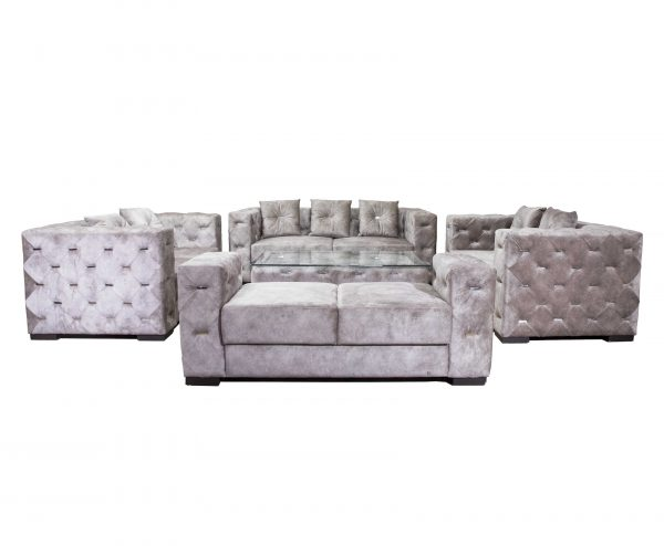 Flora Seven Seater Fabric Sofa for Living Room Furnitures from Cherrypick India Store in Bangalore Koramangala