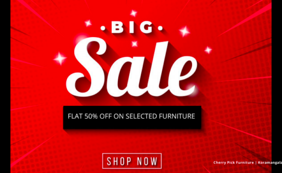 50% Off on All Selected Furniture
