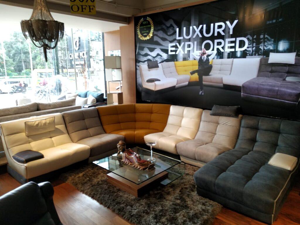 grace l shape leather sofa set