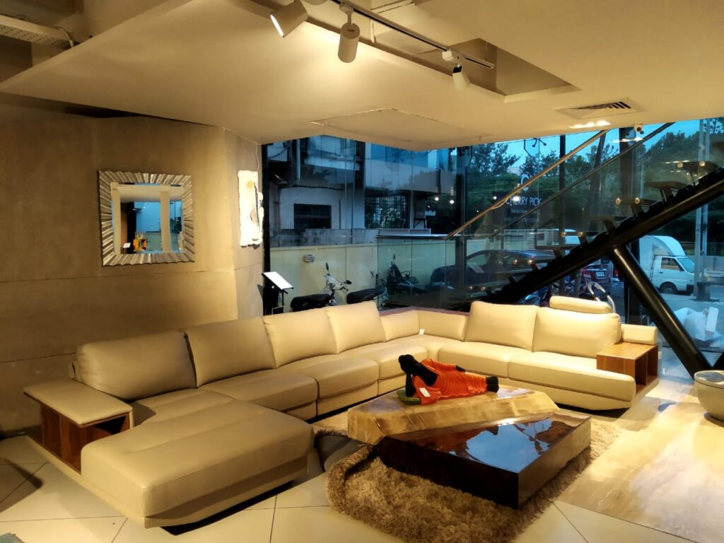 brooklyn leather sofa set