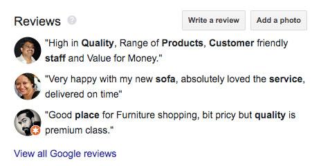 cherrypick reviews of google