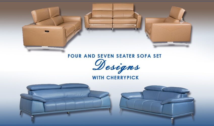 4 Seater and 7 Seater Sofa Set Designs