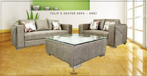 Tulip 5 seater Luxury Fabric Sofa Set